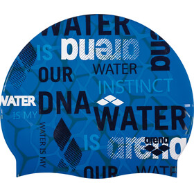 arena Print 2 Swimming Cap evolution pix blue